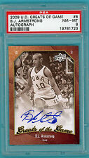 2009 UD Greats of the Game B.J. Armstrong Auto Issue - #8 PSA 8! Iowa! POP 1!