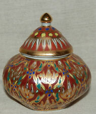 Beautiful oriental hand painted lidded small pot