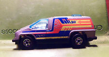 Hotwheels Hot Wheels HW 1978 Cool Van W Flames Blue Tinted Glass End Head Bubble