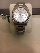Authentic Stainless Steel Men's Rolex Air-King! 114200 Silver Dial Never Worn