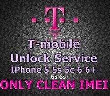 T-Mobile USA Factory Unlock Service iPhone 5 5s 5c 6 6+ 6s 6s+ SE Clean Financed