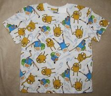 ADVENTURE TIME with FINN and JAKE Wht Printed S/S Tee T-Shirt sz 10/12