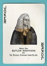 Single Swap Playing Card JOKER K49 BUTLER BROTHERS RUSSELL JUDGE WIG ANTIQUE OLD