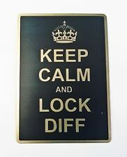 Land Rover Discovery 90 110  Diff lock badge KEEEP CALM AND LOCK DIFF