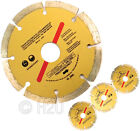 "3 x 115mm 4.5"" Diamond Disc Cutting Saw Blade Angle Grinder Brick Stone Concrete"