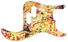 P Bass Precision Pickguard Custom Fender 13 Hole Guitar Pick Guard Abstract 1