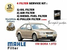 FOR VOLKSWAGEVW BORA 1.9TD PD 2001-2005 OIL AIR FUEL POLLEN FILTER SERVICE KIT