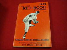 1962 Little Red Book of Baseball       37th annual edition