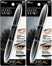 (2) TWO NEW Sealed Loreal Voluminous Super Star Mascara, 621 Blackest Black!