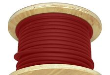 50' 4/0 Welding Cable Red Flexible Outdoor Wire