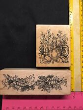 PSX Rubber Stamps G1489 F961 Fall Harvest Spray Thanksgiving Pocahontas Scene