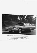 USA 1977 FOR 1978 CADILLAC FLEETWOOD BROUGHAM SALOON UK PRESS PHOTO 'BROCHURE'