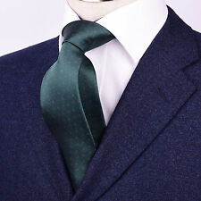 """Mens Green Skinny Tie Floral Pattern 3"""" Beautiful Woven A+ Matching Luxury Shirt"""