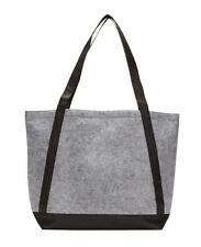 natural grocery shopping recycled wool felt  dual straps tote handbag G1760