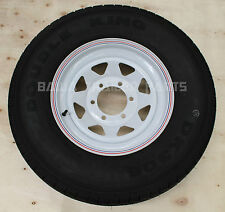 "SUNRAYSIA WHITE 15"" - 6 STUD LANDCRUISER WITH 235R15 LT TYRE ! Trailer Parts"