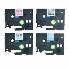 """4PK TZe TZ 131 132 133 135 Label Tape For Brother P-touch PT-D200 D210 12mm 1/2"""""""