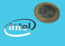 INTEL  METALISSED CHROME EFFECT STICKER AUFKLEBER 26x18mm [50]