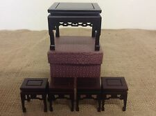 Small Wooden Bonsai Display Tables / Stands Set Of 5 For Mame / Shohin