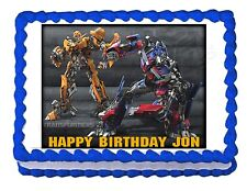 TRANSFORMERS BUMBLEBEE OPTIMUS PRIME edible cake image cake topper decoration