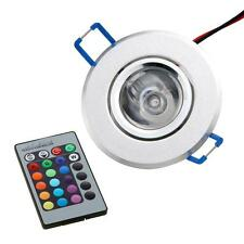 3W Recessed Ceiling Down Cabinet Downlight RGB LED Energy Saving + Remote DC12V