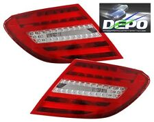 2012-2014 Mercedes C-Class Sedan W204 LED RED CLEAR Tail Lights DEPO