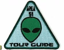 Area 51 Tour Guide Iron On Patch Alien Head - 3x3 inch Free Shipping Alien