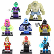 Teen Titans Starfire Beast Boy Robin Raven 8 Mini figures Building Bricks LEGO