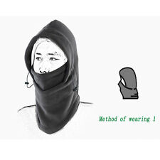 Balaclava black Warm thermal fleece winter Hiking Ski Bike Head Wrap Hat hood