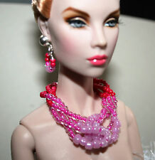 "OOAK by Grazia/schmuckset/para 16"" Dolls/tulabelle, Fashion Royalty/amaranto 2"