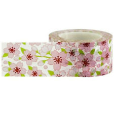 Pink Cherry Blossom Floral Washi Tape, 25mm x 15m