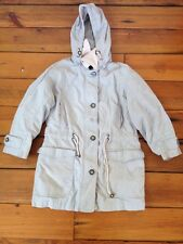 Womens London Fog Khak (ease) Hooded Rain Coat Parka Jacket SP Small Petite