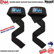 DAM WEIGHT LIFTING STRAPS. WEIGHTLIFTING BODYBUILDING WRIST BAR SUPPORT