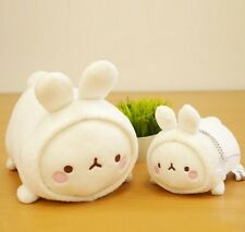 Molang Rabbit Laying Plush Doll Toy -2 Pieces Set