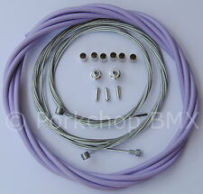 Bicycle 5mm LINED freestyle ACS rotor brake cable kit old school BMX LAVENDER