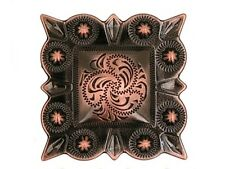 "Western Cowboy Square Black/Copper 1 1/4"" Concho"