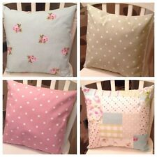 4 Clarke & Clarke Fryetts Floral Patchwork Pink Sage Shabby Chic Cushion Covers