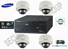 SAMSUNG 4 Channel CCTV IP Network pacchetto KIT 1x 4ch NVR + 4x vandalproof CAMERA
