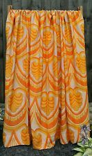 Vintage retro mid century pair of curtains 50's 60's 70's fabric crafts