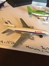United Airlines Small Model Toy Airplane Made In England 1970s