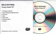 WILD NOTHING Empty Estate EP UK 7-trk promo test CD + press release Bella Union