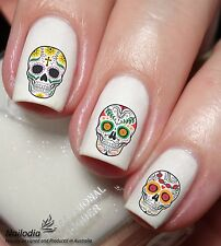 Sugar Skull Nail Art Sticker Water Transfer Decal Tattoo 66