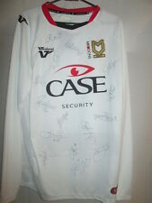 MK Dons 2012-2013 Squad Signed Home Football Shirt with FLT Letter COA /14948