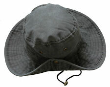 Unisex Safari Outback Australian 100% Cotton Bush Hat With Wide Brim