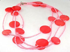 Indian Traditional Style Latest Pink Agate Beaded Long Fashion Jewelry Necklace