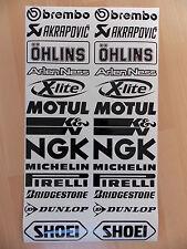 26 x Sponsoren Aufkleber Set 2x13 Stück - Motorrad-Auto - 16cm Breit - Sticker