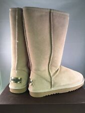 New! Ausland Womens Classic Leather Tall Boots Sandy  A 5815 Size 6.5 Beige