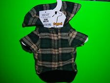 2 Items~ Five Below Leather & Plaid Doggy Coat + Simply Dog Love T-Shirt Size XS
