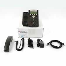 Polycom SoundPoint IP 331 SIP VoIP AC Business Telephone Phone Set - Top Refurb