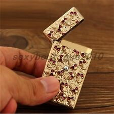 Collectible Gold Creative Skull Electronic Sensor Cigarette Tobacciana Tool New