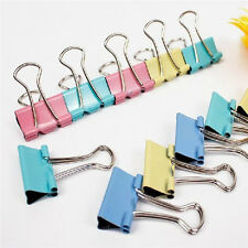 60pcs Metal Binder Clips for File Paper Notebook Organizer School Office Supply
